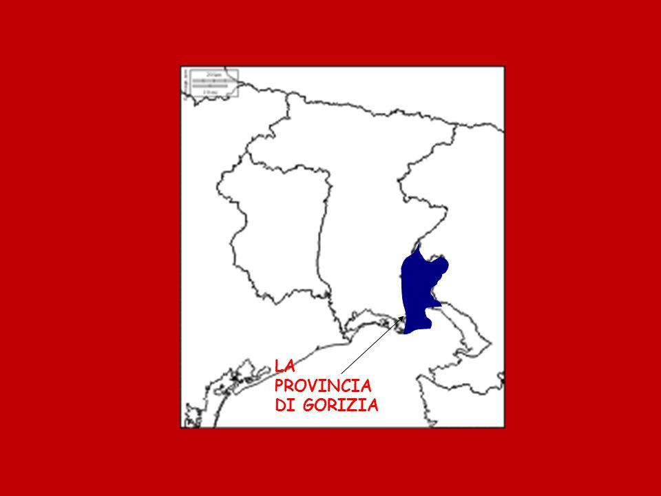 Questa città e circondata da 5 montagne che sono: il Monte Santo, il Sabotino, le montagne di Tolmino, l'altipiano della Bainsizza, il Monte San Michele sul quale si combatté la 1ª guerra mondiale.