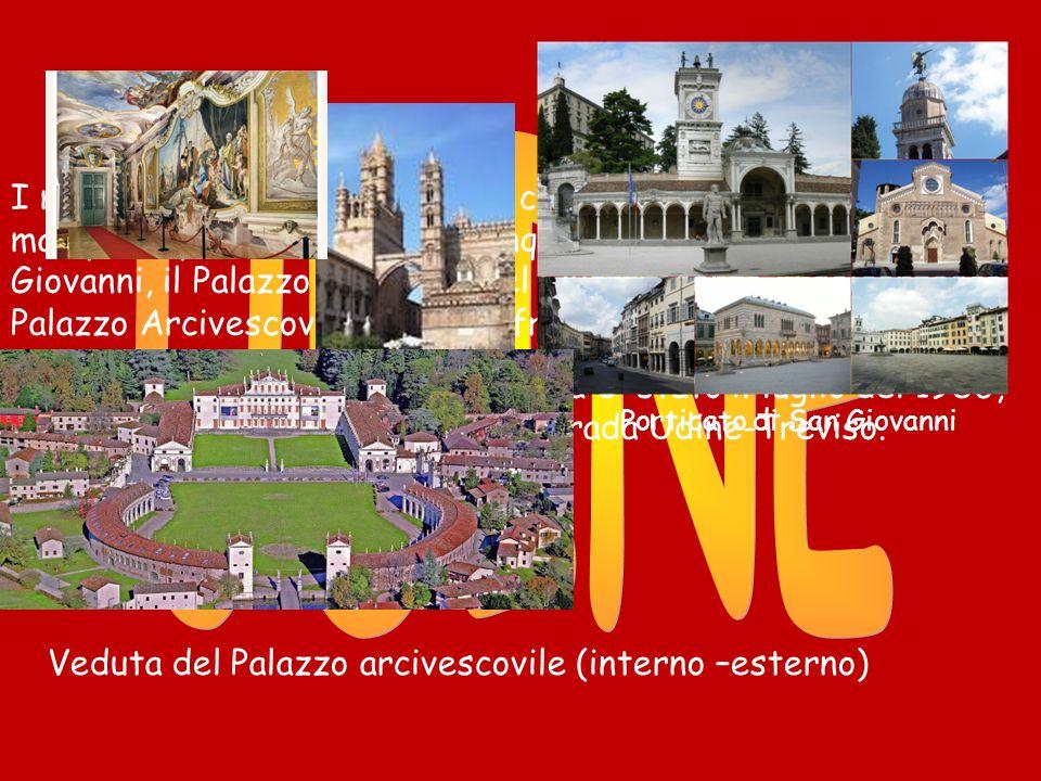 I monumenti artistici di questa città spettacolare sono molti, ma i più importanti sono 4: il cinquecentesco Porticato di San Giovanni, il Palazzo Comunale del Quattrocento, il seicentesco Palazzo Arcivescovile con gli affreschi del Tiepolo.