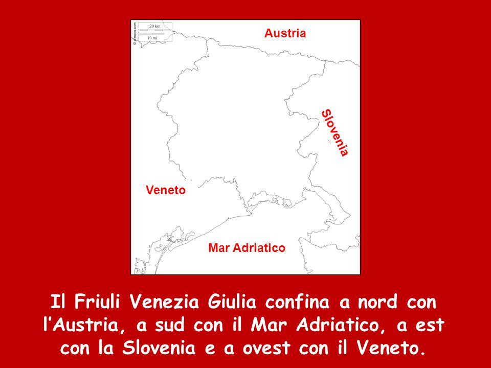 Territorio  a nord troviamo le Alpi e le Prealpi Carniche e Giulie  a sud la pianura padana  a sud est il Carso, un altopiano di terreno calcareo scavato dai fiumi e caratterizzato dalla presenza di molte grotte
