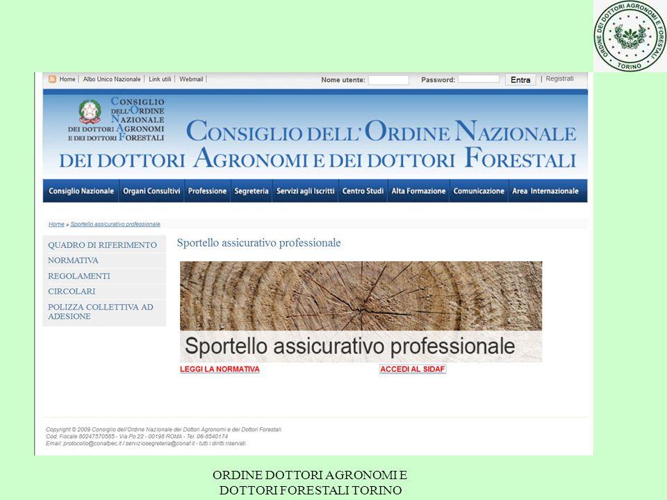 professionale obbligatoria ORDINE DOTTORI AGRONOMI E DOTTORI FORESTALI TORINO