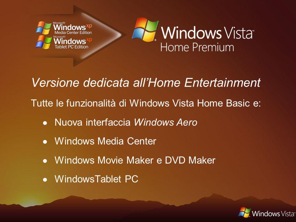 Determina se il PC Windows XP è pronto per il passaggio a Windows Vista Permette di scegliere la versione di Windows Vista Indica se il PC, le periferiche ed il software supportano le versione di Windows Vista scelta Indirizzato ai consumatori e alle piccole imprese www.windowsvista.it Upgrade Advisor