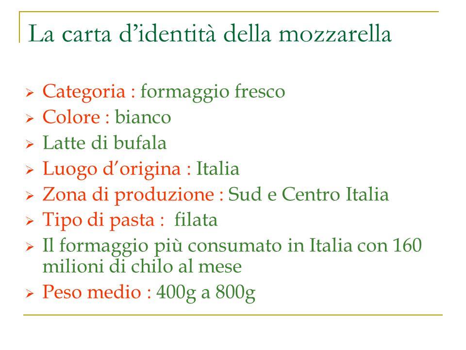 Prezentazione La mozzarella è molto prodotta con il latto di bufala, perche è di miglore qualità.
