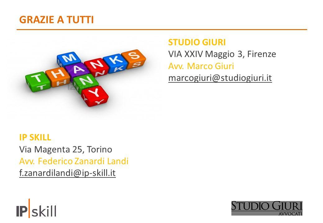 GRAZIE A TUTTI STUDIO GIURI VIA XXIV Maggio 3, Firenze Avv.