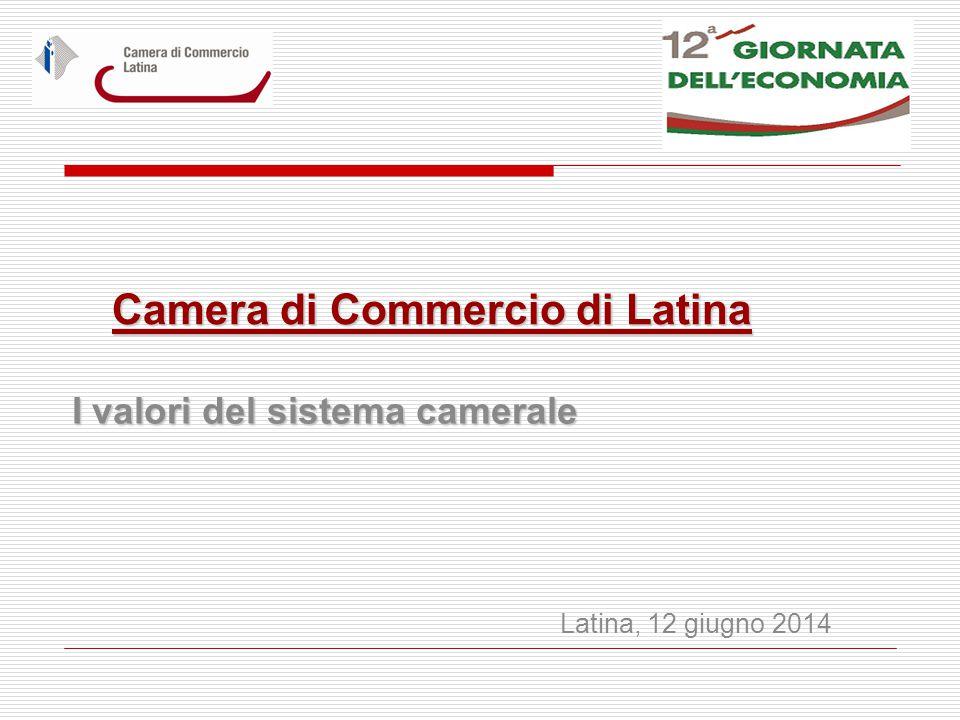 Camera di Commercio di Latina I valori del sistema camerale Latina, 12 giugno 2014