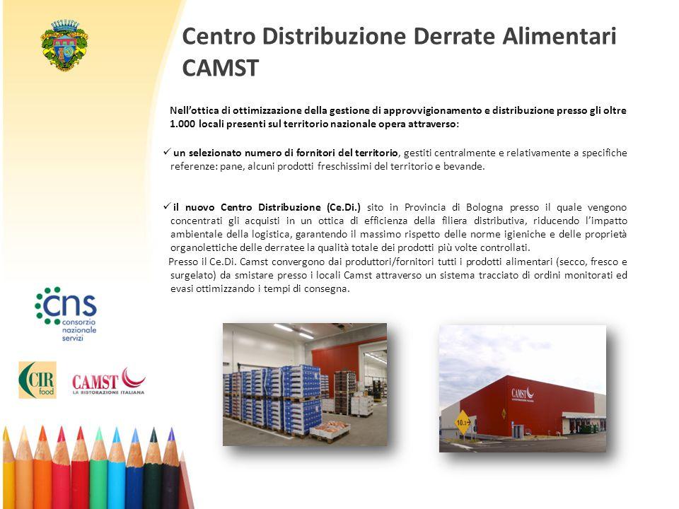 Centro Distribuzione Derrate Alimentari CAMST Nell'ottica di ottimizzazione della gestione di approvvigionamento e distribuzione presso gli oltre 1.00
