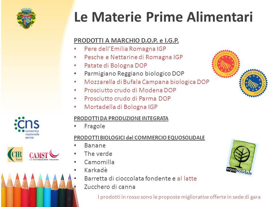 Le Materie Prime Alimentari PRODOTTI A MARCHIO D.O.P.