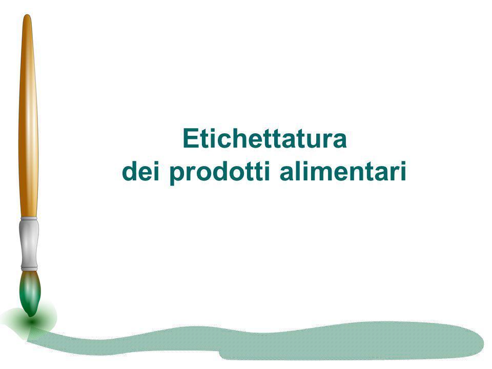 I marchi di qualità - BIO Il Marchio Biologico contraddistingue quegli alimenti per i quali, il processo di lavorazione non prevede l utilizzo di pesticidi e fertilizzanti ed avviene con tecniche di coltivazione e allevamento rispettose dell ambiente.