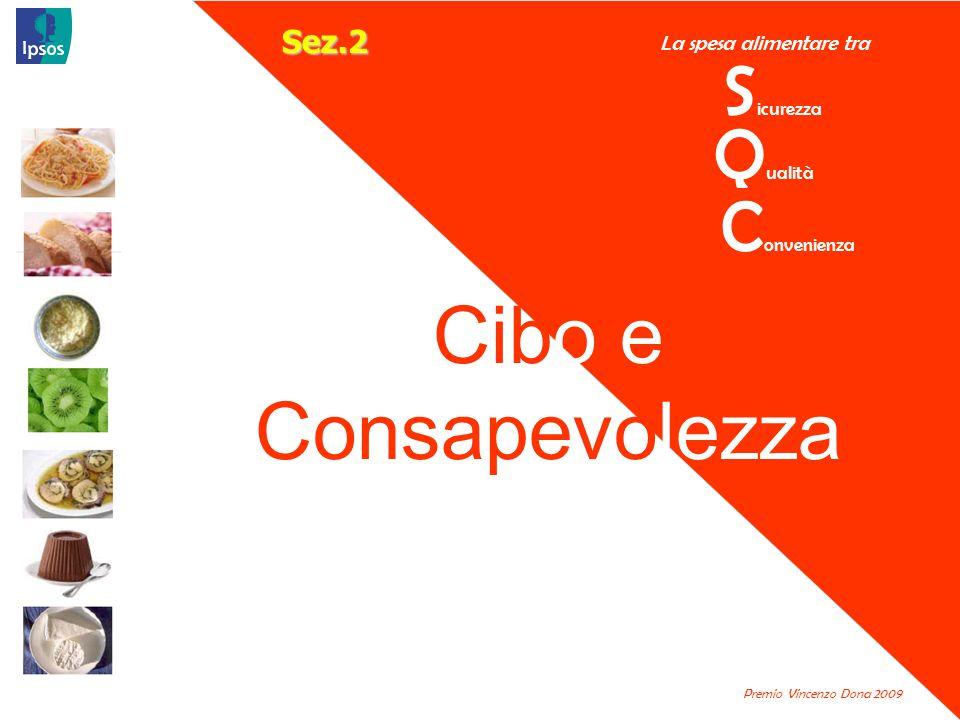 La spesa alimentare tra S icurezza Premio Vincenzo Dona 2009 Q ualità C onvenienza Cibo e Consapevolezza Sez.2