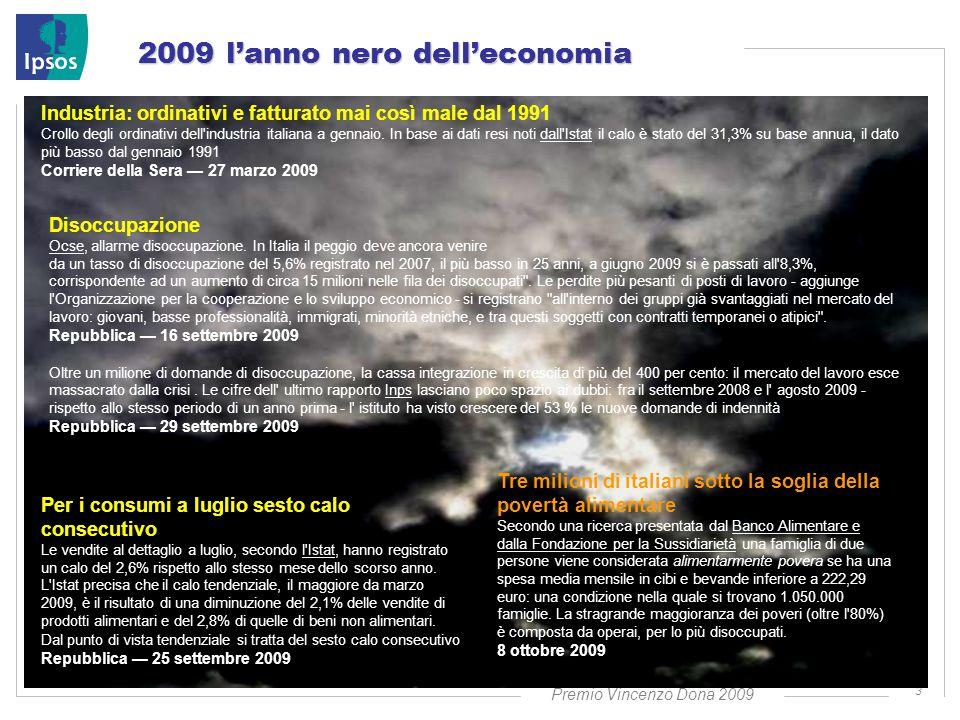 Premio Vincenzo Dona 2009 3 2009 l'anno nero dell'economia Disoccupazione Ocse, allarme disoccupazione.