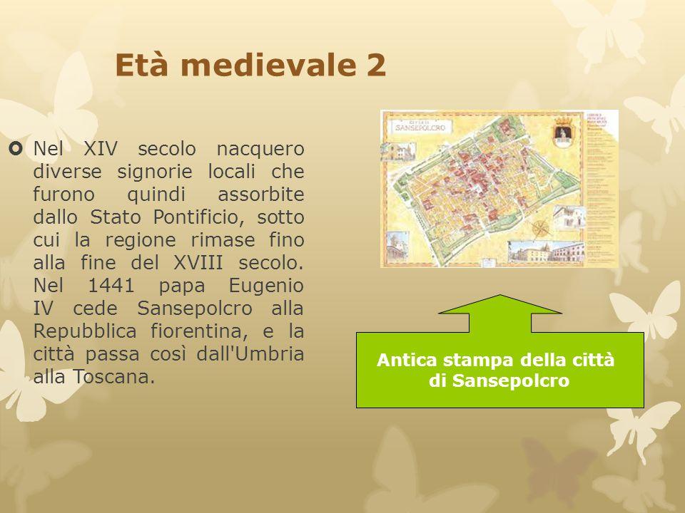 Età medievale 2  Nel XIV secolo nacquero diverse signorie locali che furono quindi assorbite dallo Stato Pontificio, sotto cui la regione rimase fino