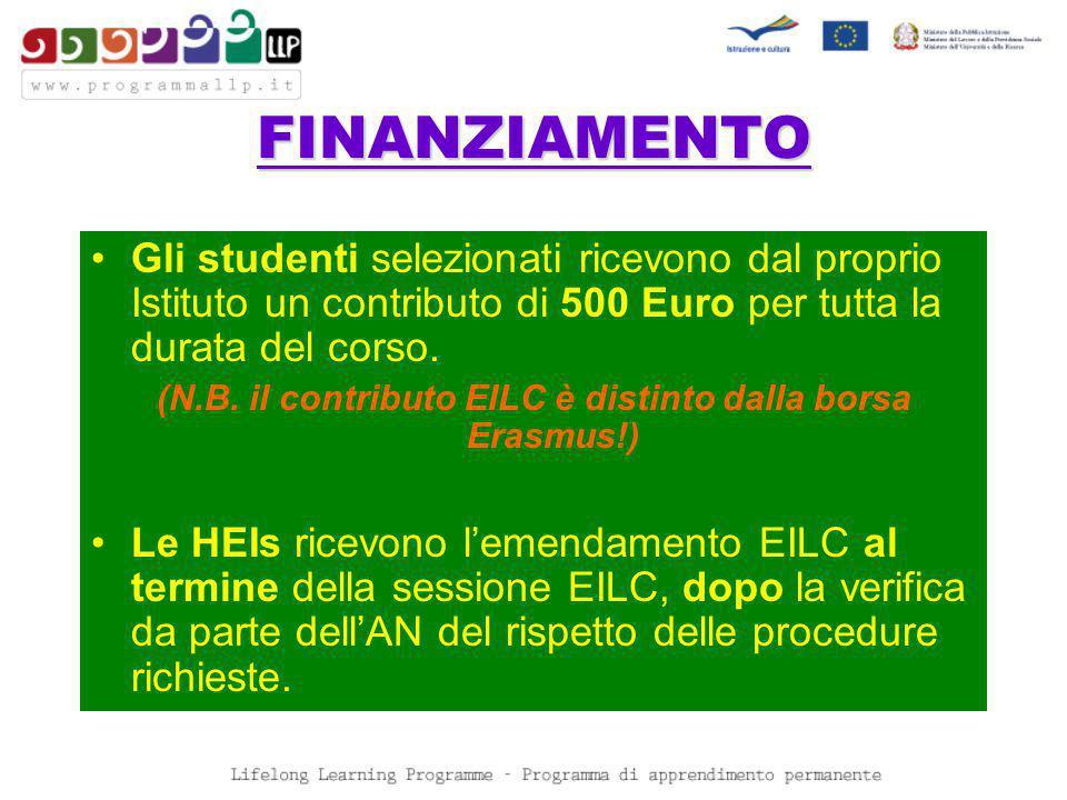 FINANZIAMENTO Gli studenti selezionati ricevono dal proprio Istituto un contributo di 500 Euro per tutta la durata del corso.