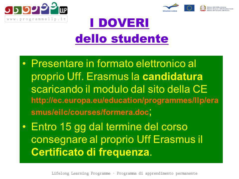 I DOVERI dello studente Presentare in formato elettronico al proprio Uff.