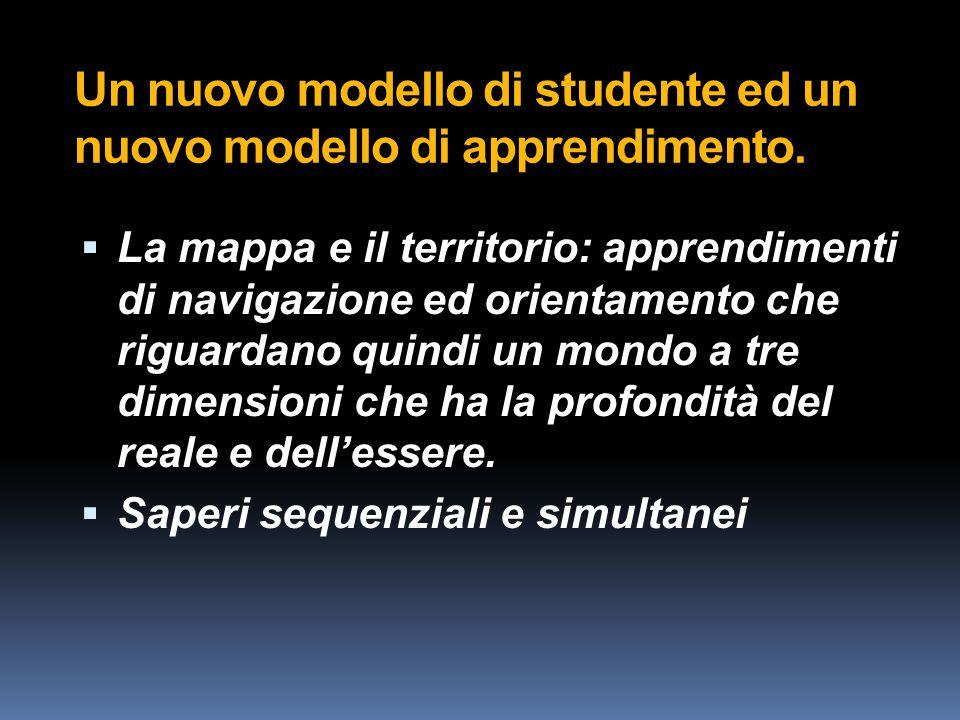 Un nuovo modello di studente ed un nuovo modello di apprendimento.