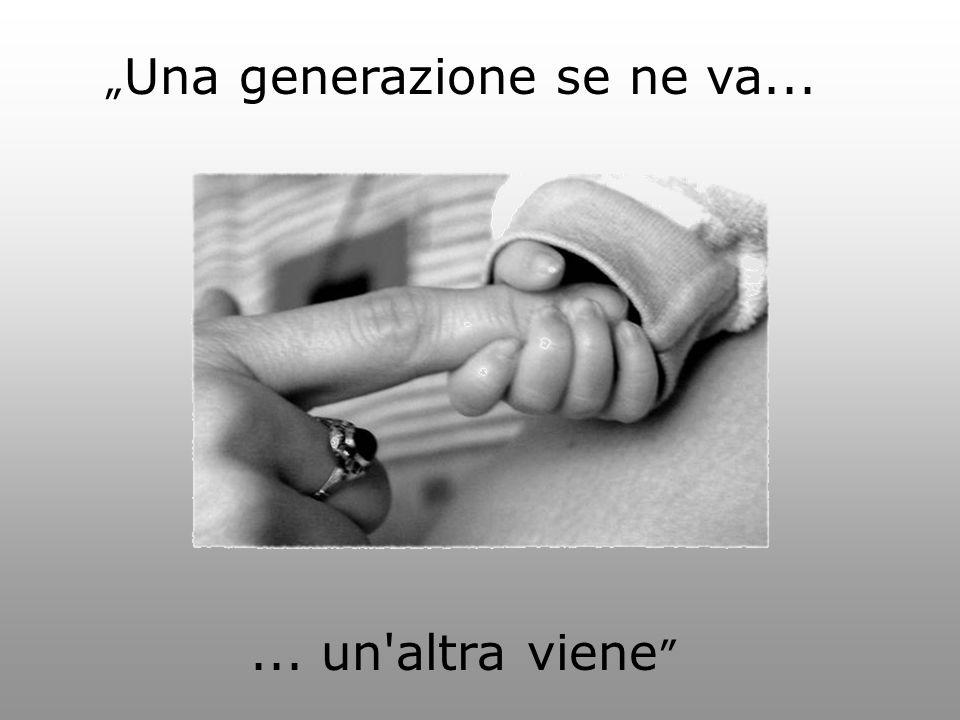 """"""" Una generazione se ne va...... un altra viene"""