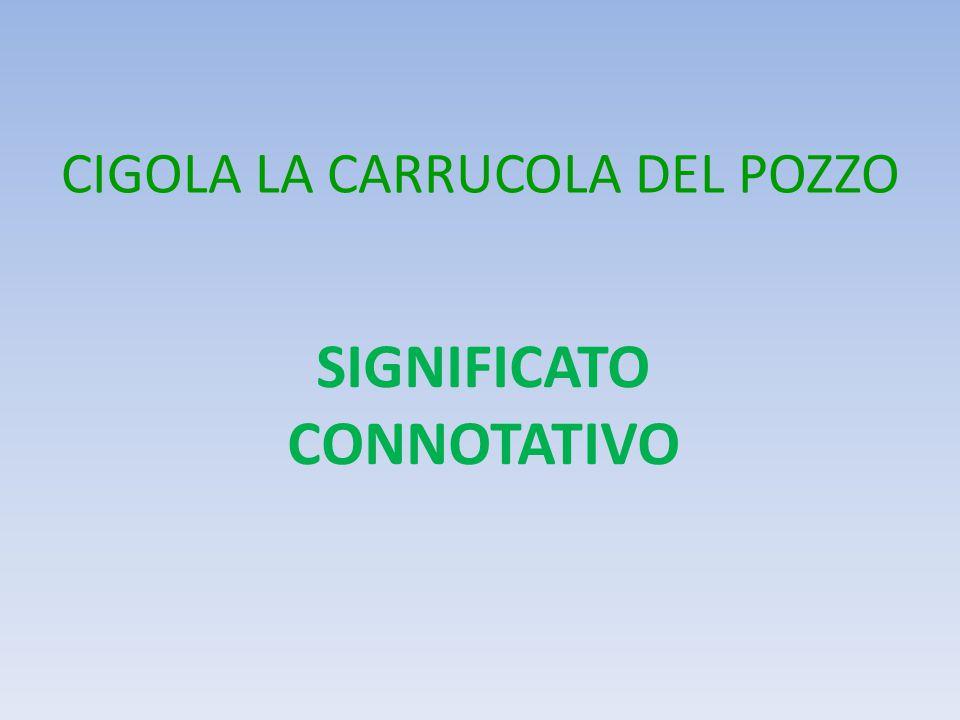 CIGOLA LA CARRUCOLA DEL POZZO SIGNIFICATO CONNOTATIVO