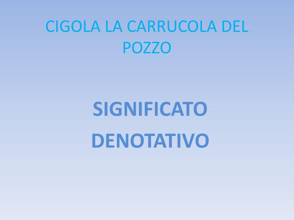 CIGOLA LA CARRUCOLA DEL POZZO SIGNIFICATO DENOTATIVO