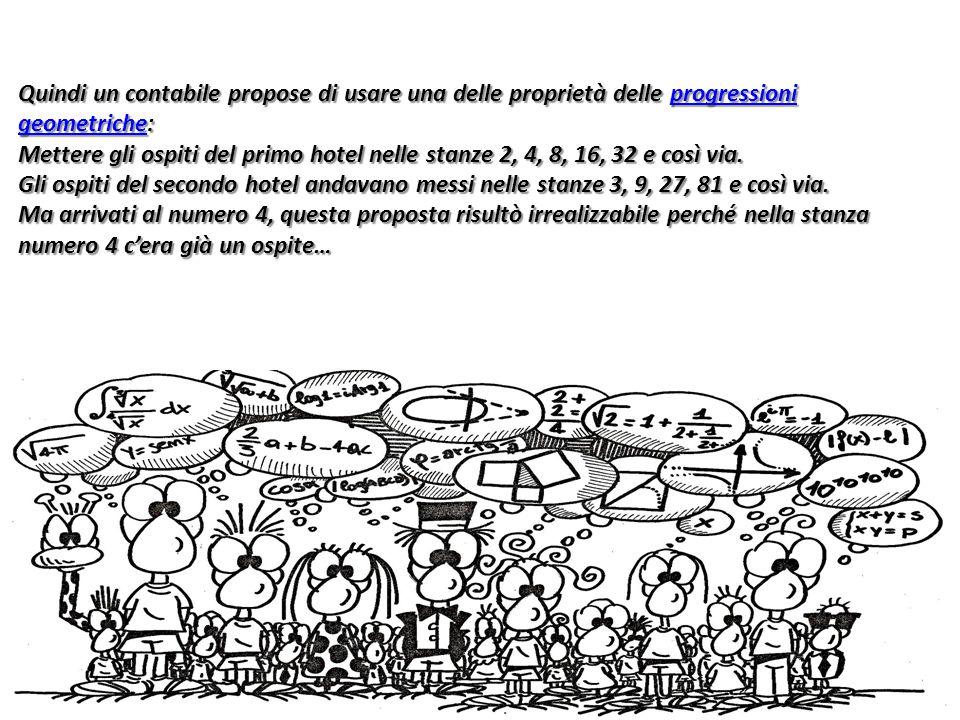 Quindi un contabile propose di usare una delle proprietà delle progressioni geometriche: progressioni geometricheprogressioni geometriche Mettere gli