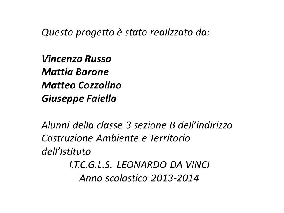 Questo progetto è stato realizzato da: Vincenzo Russo Mattia Barone Matteo Cozzolino Giuseppe Faiella Alunni della classe 3 sezione B dell'indirizzo C