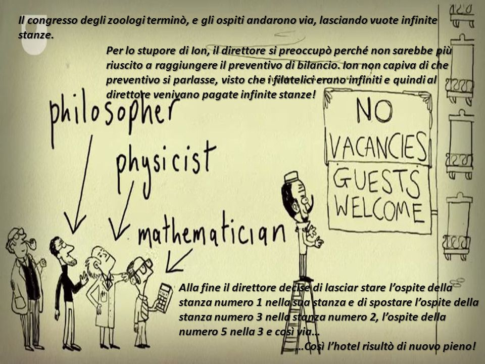Il primo a comprendere ciò è stato il matematico tedesco Georg Cantor (1845-1918), che ha introdotto il concetto di EQUIPOTENZA che ha introdotto il concetto di EQUIPOTENZA Se due insiemi sono in corrispondenza biunivoca, questi si dicono equipotenti.