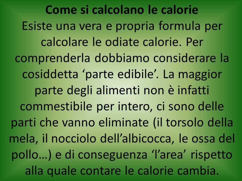 Come si calcolano le calorie Esiste una vera e propria formula per calcolare le odiate calorie.