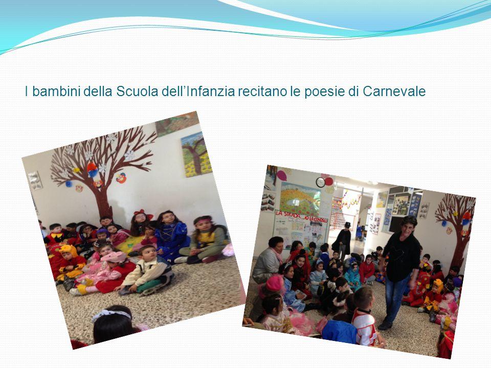 I bambini della Scuola dell'Infanzia recitano le poesie di Carnevale