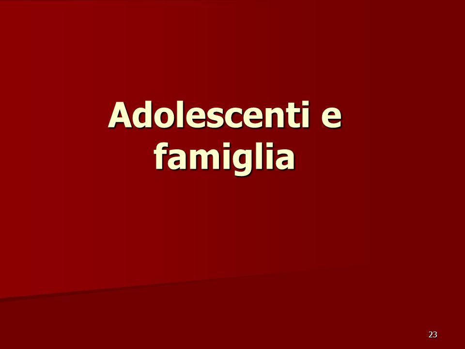 23 Adolescenti e famiglia