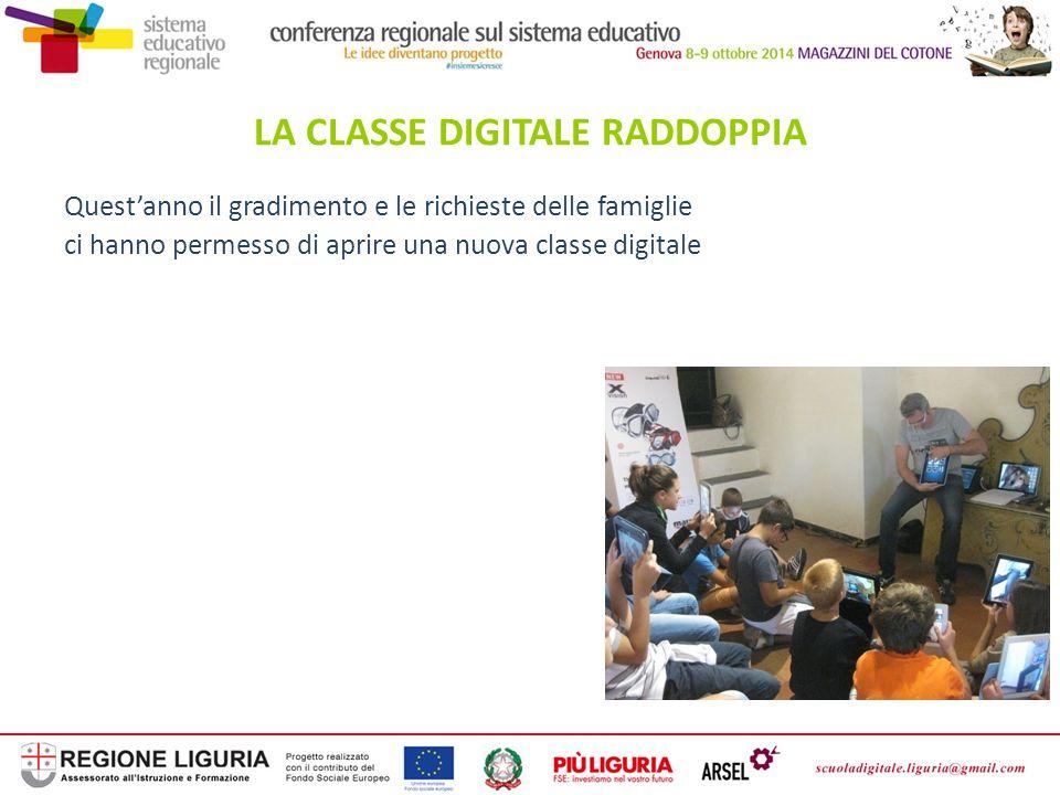 Quest'anno il gradimento e le richieste delle famiglie ci hanno permesso di aprire una nuova classe digitale LA CLASSE DIGITALE RADDOPPIA