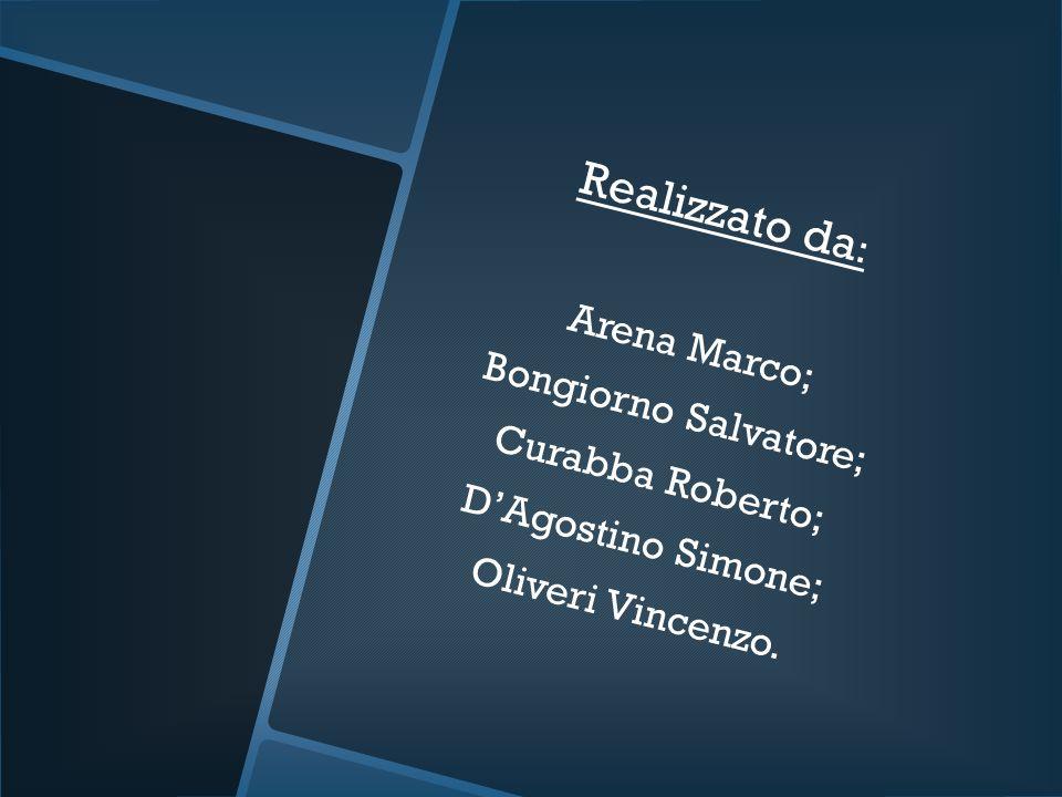 Realizzato da : Arena Marco; Bongiorno Salvatore; Curabba Roberto; D'Agostino Simone; Oliveri Vincenzo.