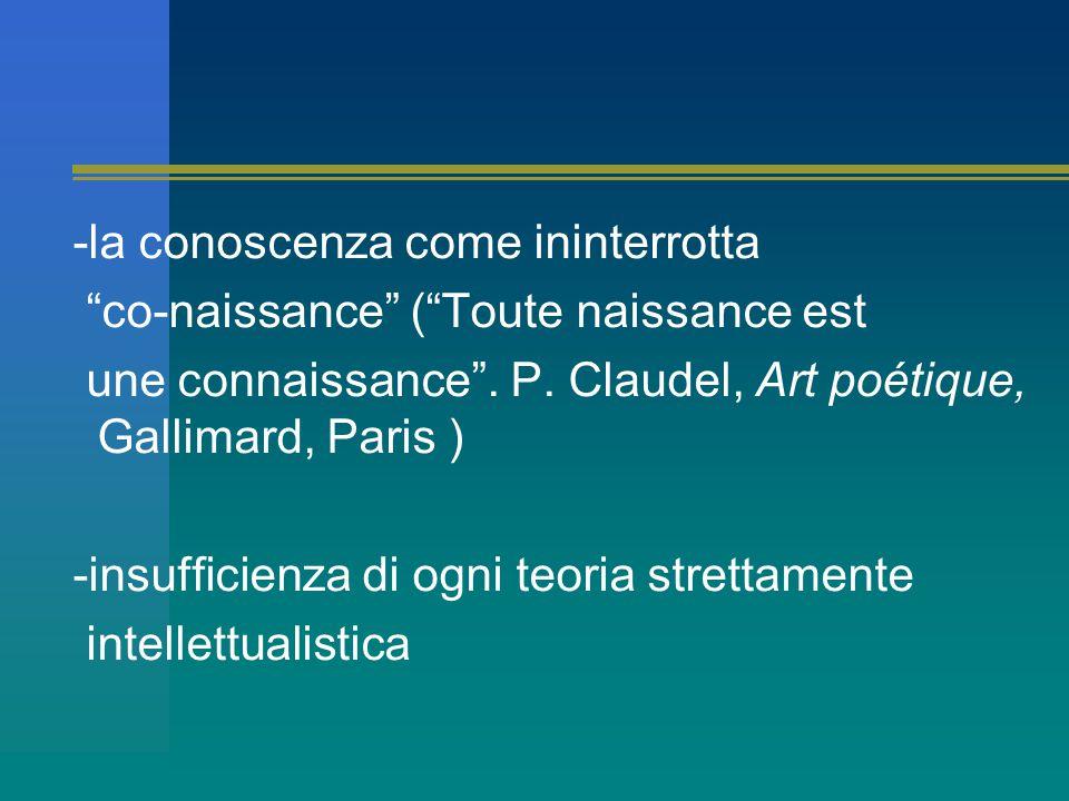 -la conoscenza come ininterrotta co-naissance ( Toute naissance est une connaissance .