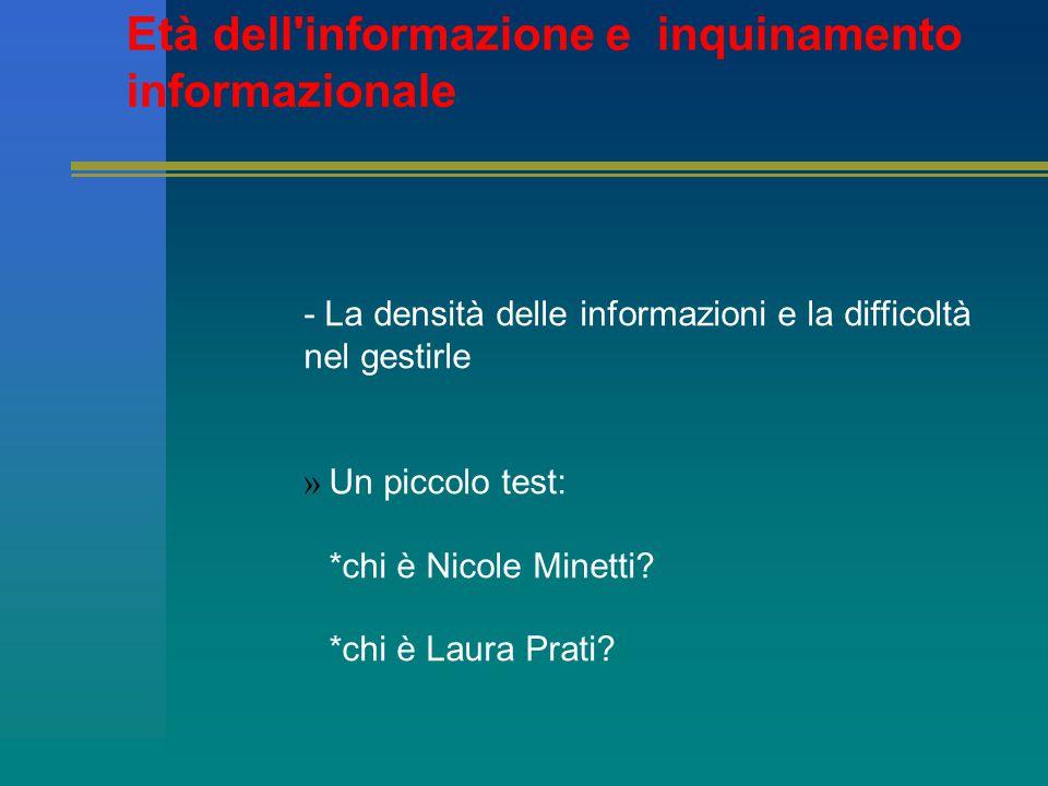 &2 – Processi formativi – quali livelli d informazione, conoscenza, sapere nel nostro Paese?
