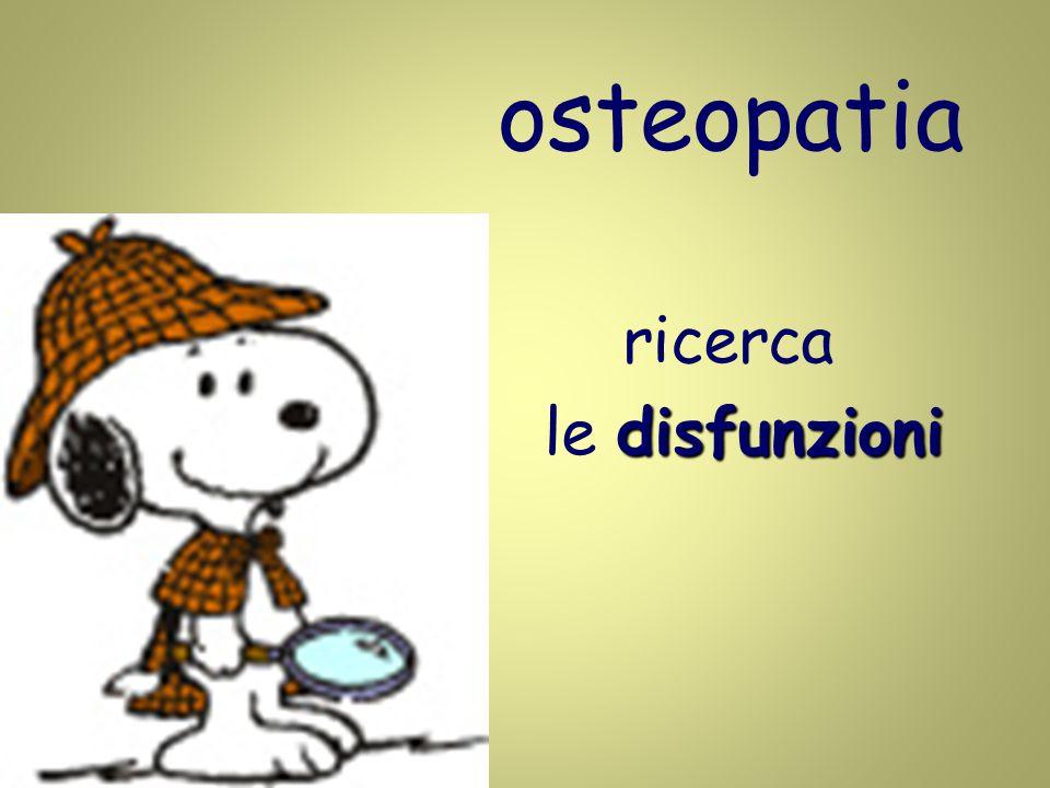 osteopatia ricerca disfunzioni le disfunzioni