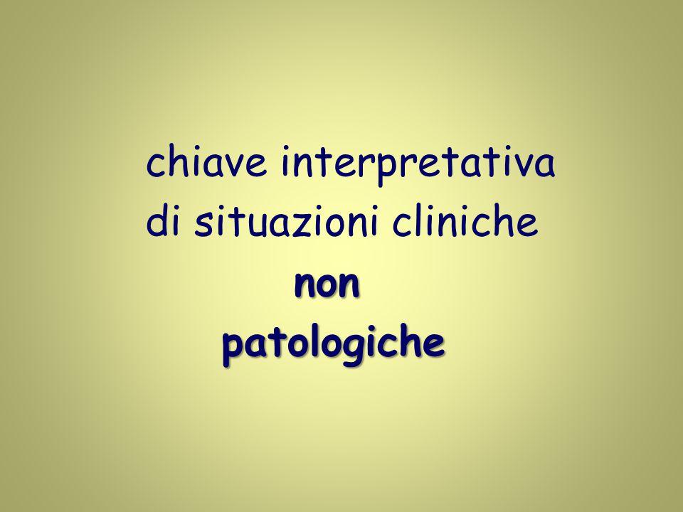chiave interpretativa di situazioni cliniche non non patologiche patologiche