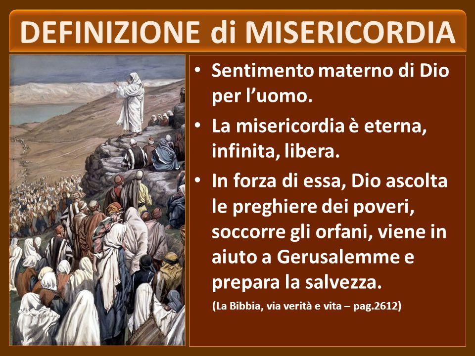 ‹‹ Beati i misericordiosi, perché troveranno misericordia ›› (Mt 5,7).