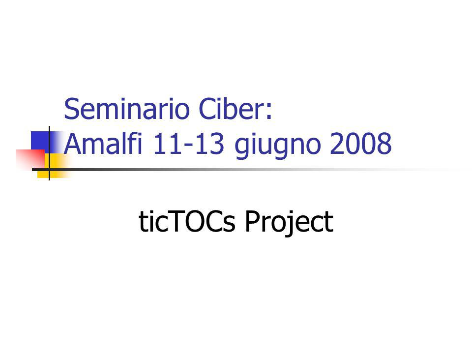 Seminario Ciber: Amalfi 11-13 giugno 2008 ticTOCs Project