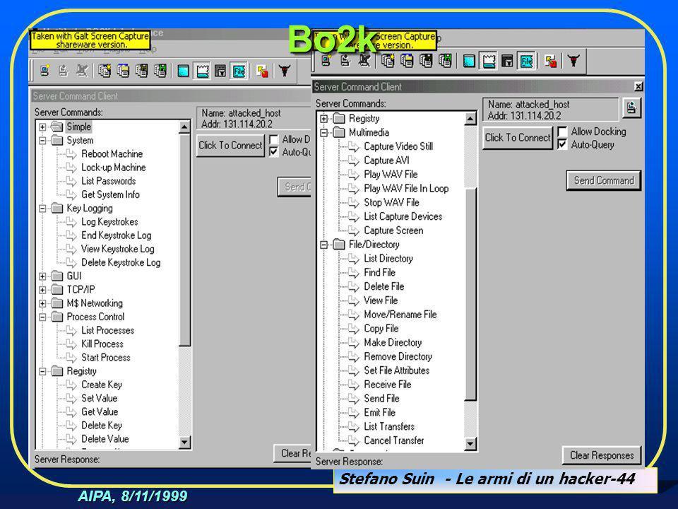Stefano Suin - Le armi di un hacker-44 AIPA, 8/11/1999 Bo2kBo2k
