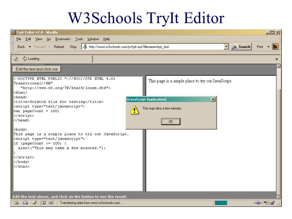 W3Schools TryIt Editor