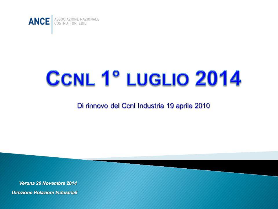 Verona 20 Novembre 2014 Direzione Relazioni Industriali