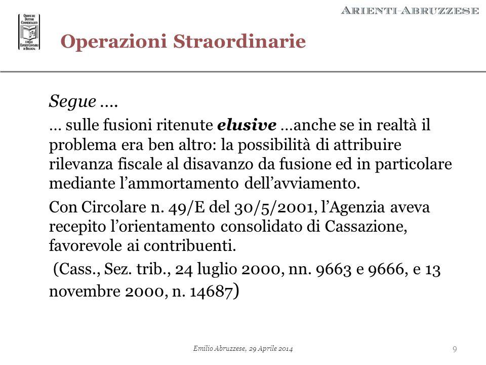 Le «nuove –forzate– tendenze»: da un eccesso all'altro…  Fantomatiche sopravvenienze attive nei finanziamenti «ascendenti»  Accertamento annullato da CTR Lombardia 12/09/2012, n.