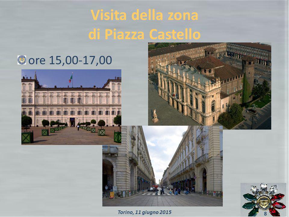 Visita della zona di Piazza Castello ore 15,00-17,00 8 Torino, 11 giugno 2015