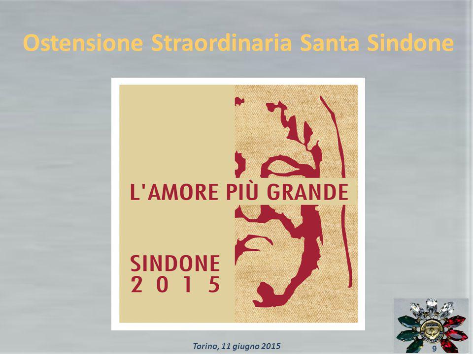 Ostensione Straordinaria Santa Sindone 9 Torino, 11 giugno 2015
