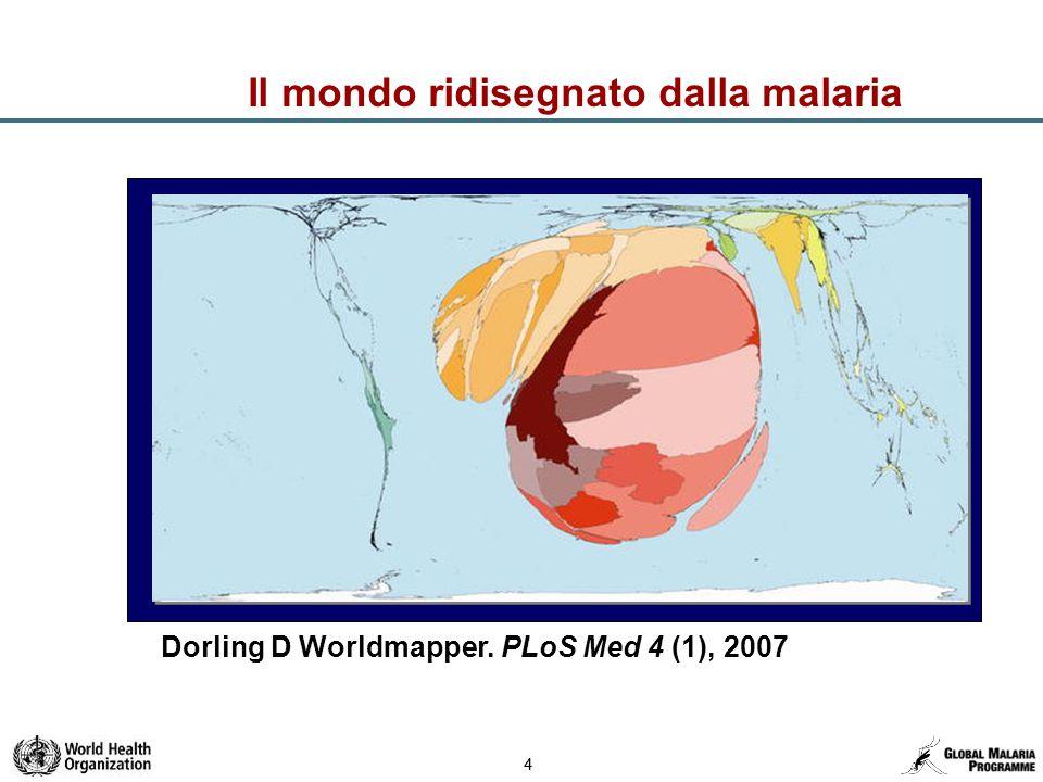 44 Il mondo ridisegnato dalla malaria Dorling D Worldmapper. PLoS Med 4 (1), 2007