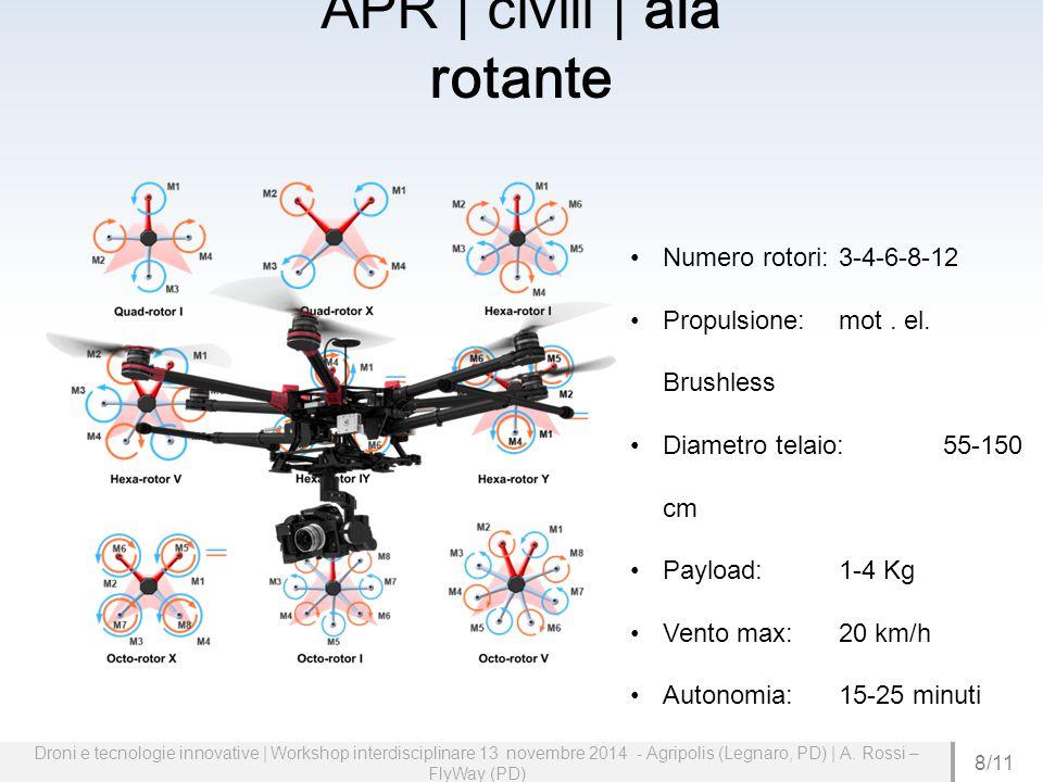 Droni e tecnologie innovative | Workshop interdisciplinare 13 novembre 2014 - Agripolis (Legnaro, PD) | A.