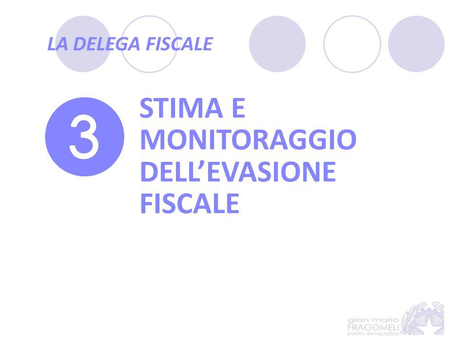 LA DELEGA FISCALE STIMA E MONITORAGGIO DELL'EVASIONE FISCALE