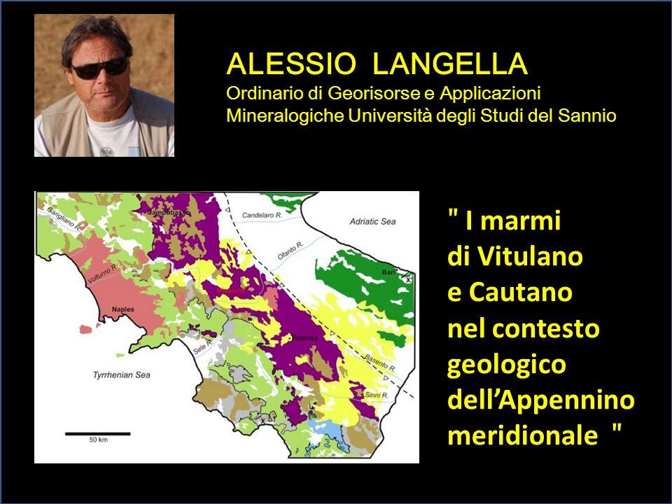 ALESSIO LANGELLA Ordinario di Georisorse e Applicazioni Mineralogiche Università degli Studi del Sannio ʺ I marmi di Vitulano e Cautano nel contesto g