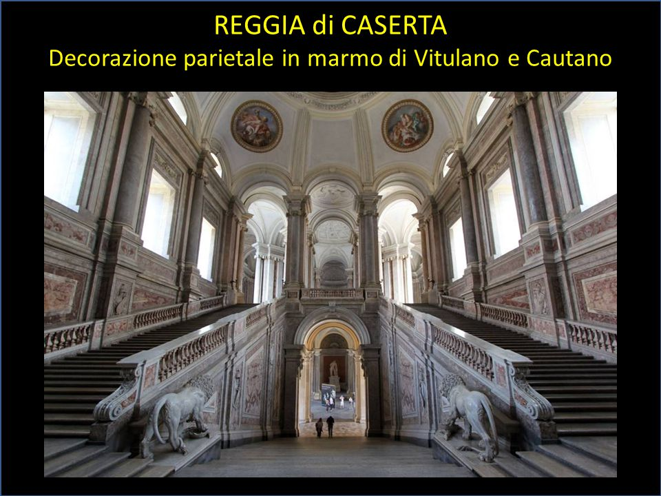 REGGIA di CASERTA Decorazione parietale in marmo di Vitulano e Cautano