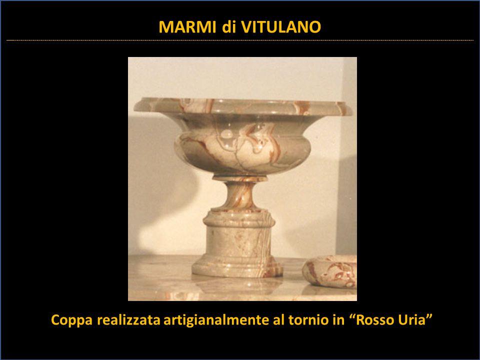 """Coppa realizzata artigianalmente al tornio in """"Rosso Uria"""" MARMI di VITULANO _________________________________________________________________________"""