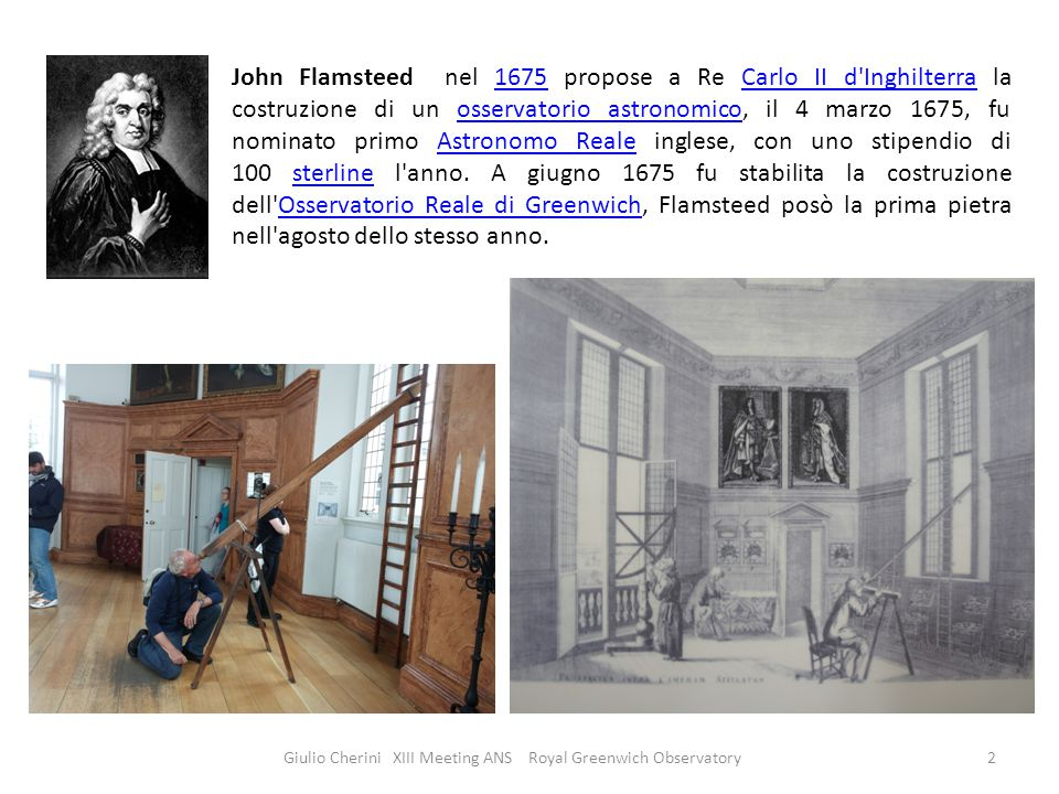 Giulio Cherini XIII Meeting ANS Royal Greenwich Observatory3