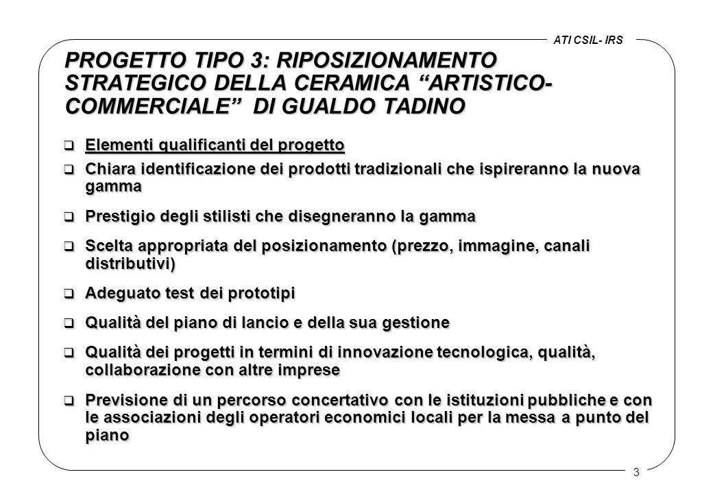 """3 PROGETTO TIPO 3: RIPOSIZIONAMENTO STRATEGICO DELLA CERAMICA """"ARTISTICO- COMMERCIALE"""" DI GUALDO TADINO q Elementi qualificanti del progetto  Chiara"""