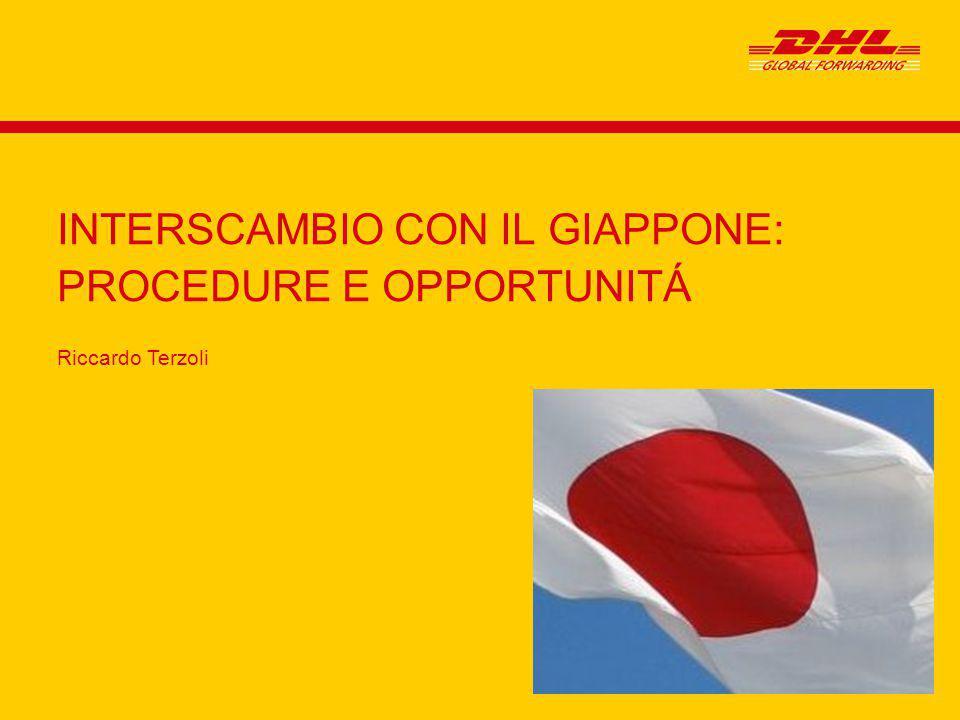 Riccardo Terzoli INTERSCAMBIO CON IL GIAPPONE: PROCEDURE E OPPORTUNITÁ