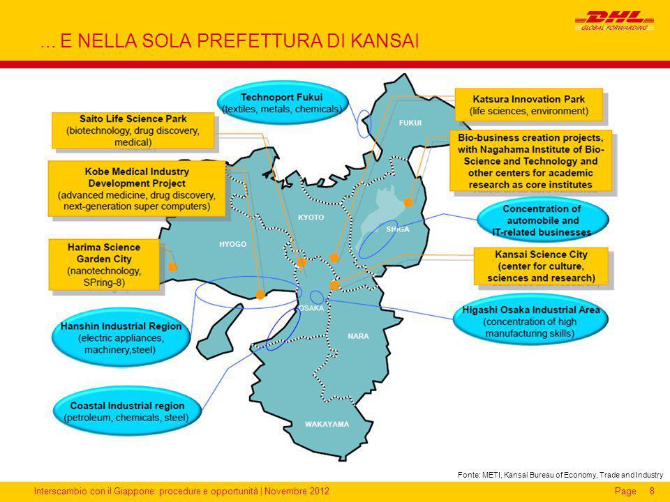 Interscambio con il Giappone: procedure e opportunità | Novembre 2012Page... E NELLA SOLA PREFETTURA DI KANSAI 8 Fonte: METI, Kansai Bureau of Economy